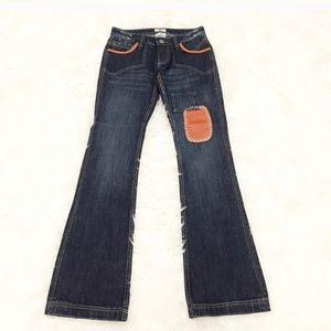 ANTIK Denim flare cut blue jeans made in USA sz 25